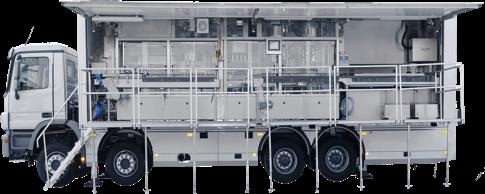 Renfort spécialiste embouteillage mobile exemple de camion pour la mise en bouteille